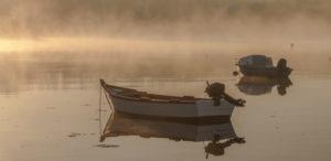 bateaux dans la brume