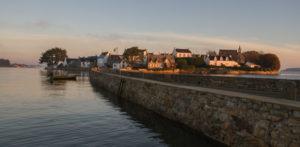 le pont de l'île de Saint Cado Bretagne