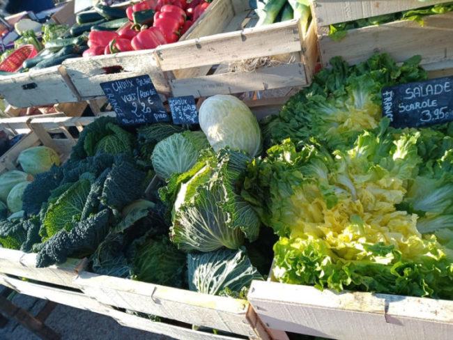 légumes d'hiver au marché
