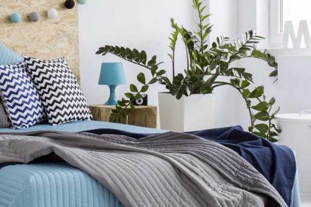 bedroom-decorated-with-blue-and-gray-PGTFKAM